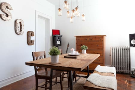 This is 1 private room in a 4 bedroom apartment...One block from Prospect Park, one block from the Q train at Parkside Avenue, 20min to NYC. This is an up-and-coming neighborhood very close to all the action without the typical New York price tag.
