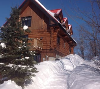 Log home with lake & mountain views - Lac-Supérieur - Haus