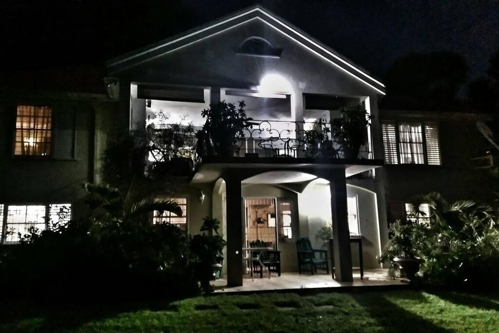 Wilton House at night