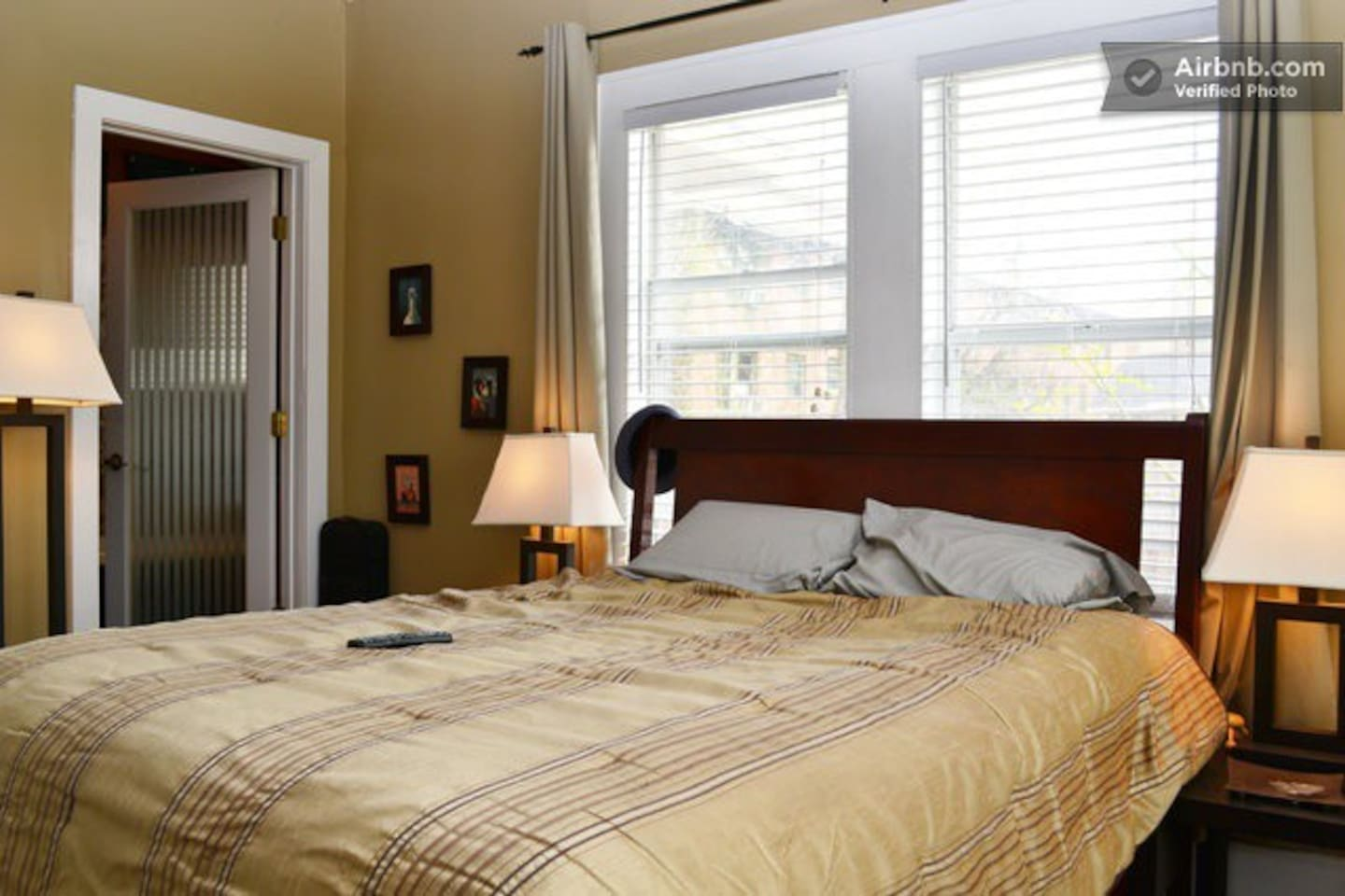 Master bedroom with 4 large windows to bring you natural light