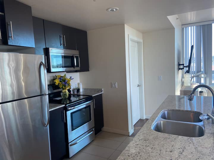 Downtown San Diego condo with large balcony.
