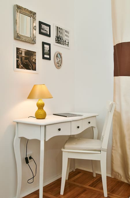 Second Room with Single Bed, lovely table and its own wardrobe