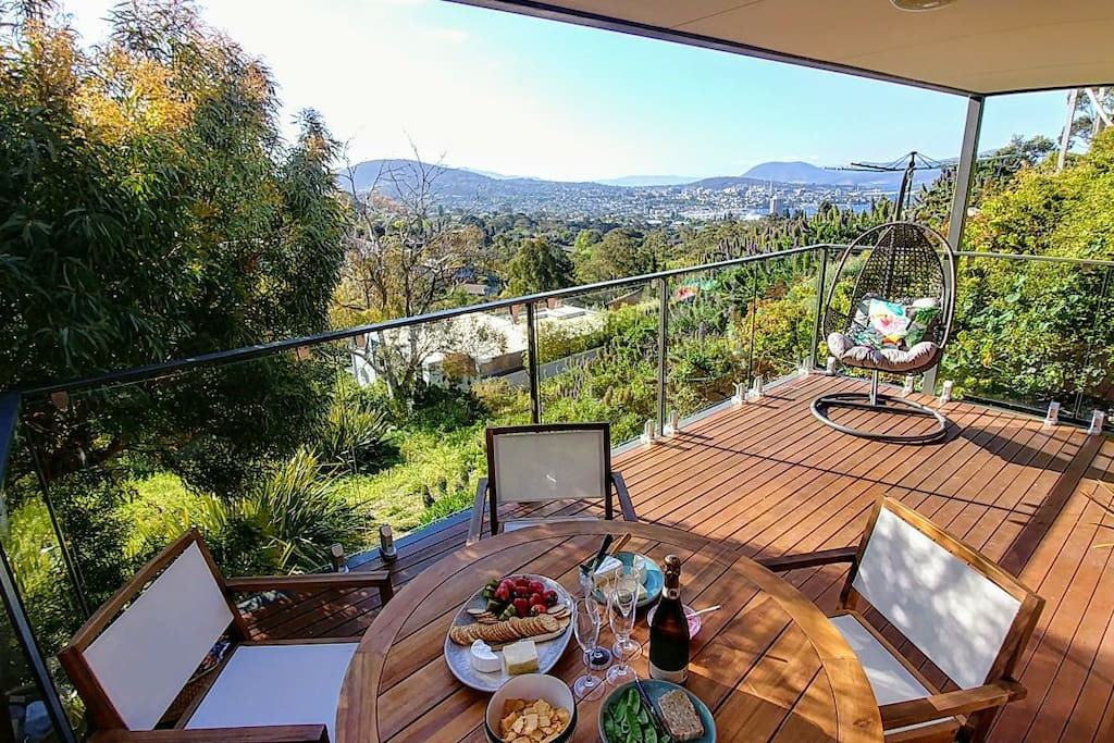 Relax on your private deck!