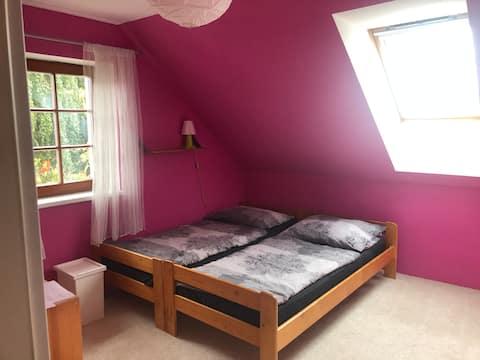 Moderní ubytování v podhůří Jeseníků pokoj v patře