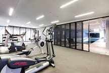 Gym available from 5 a.m. to 10 p.m.