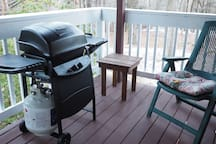 Grill on the porch.