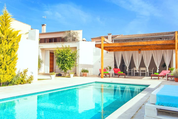 CA NA MOLINERA - Villa with private pool in SANT JOAN. Free WiFi