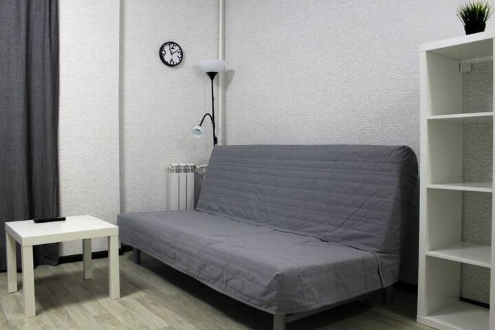 Уютная квартира-студия посуточно в Брянске.
