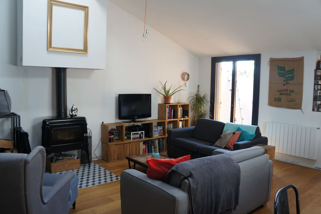 Birght and cosy living room