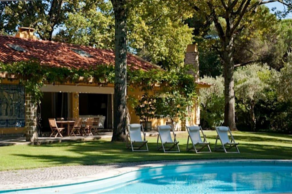 grande maison avec parc et piscine maisons louer lisbonne district de lisbonne portugal. Black Bedroom Furniture Sets. Home Design Ideas