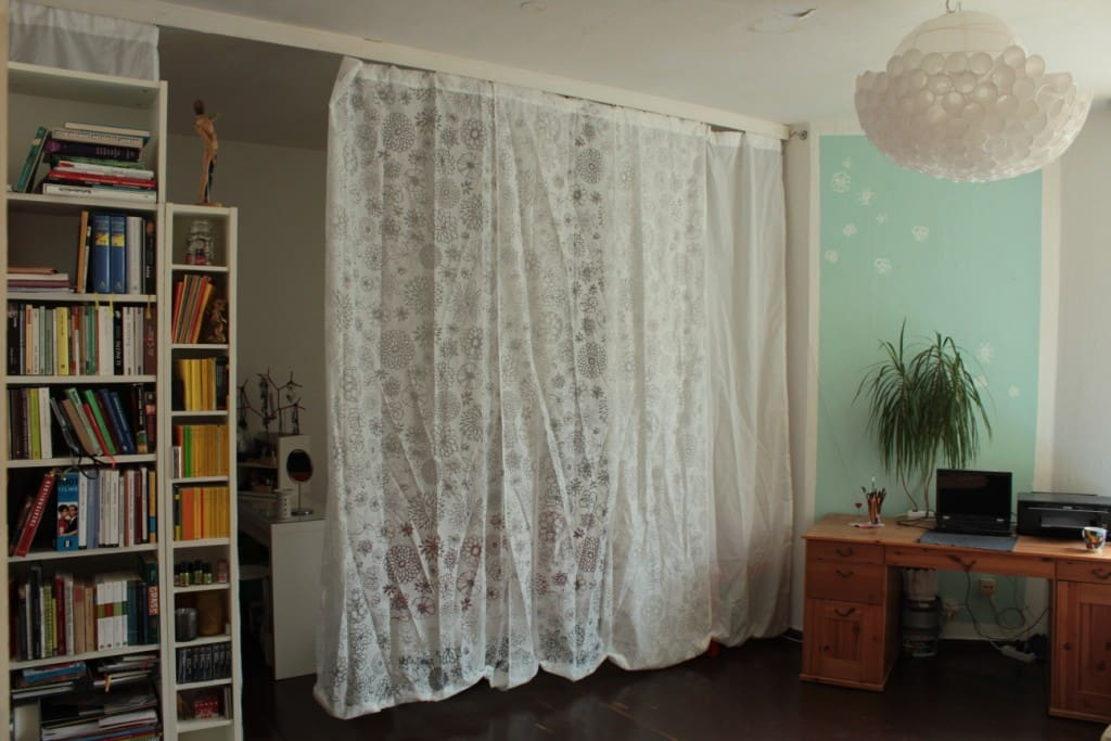 livingroom with curtain