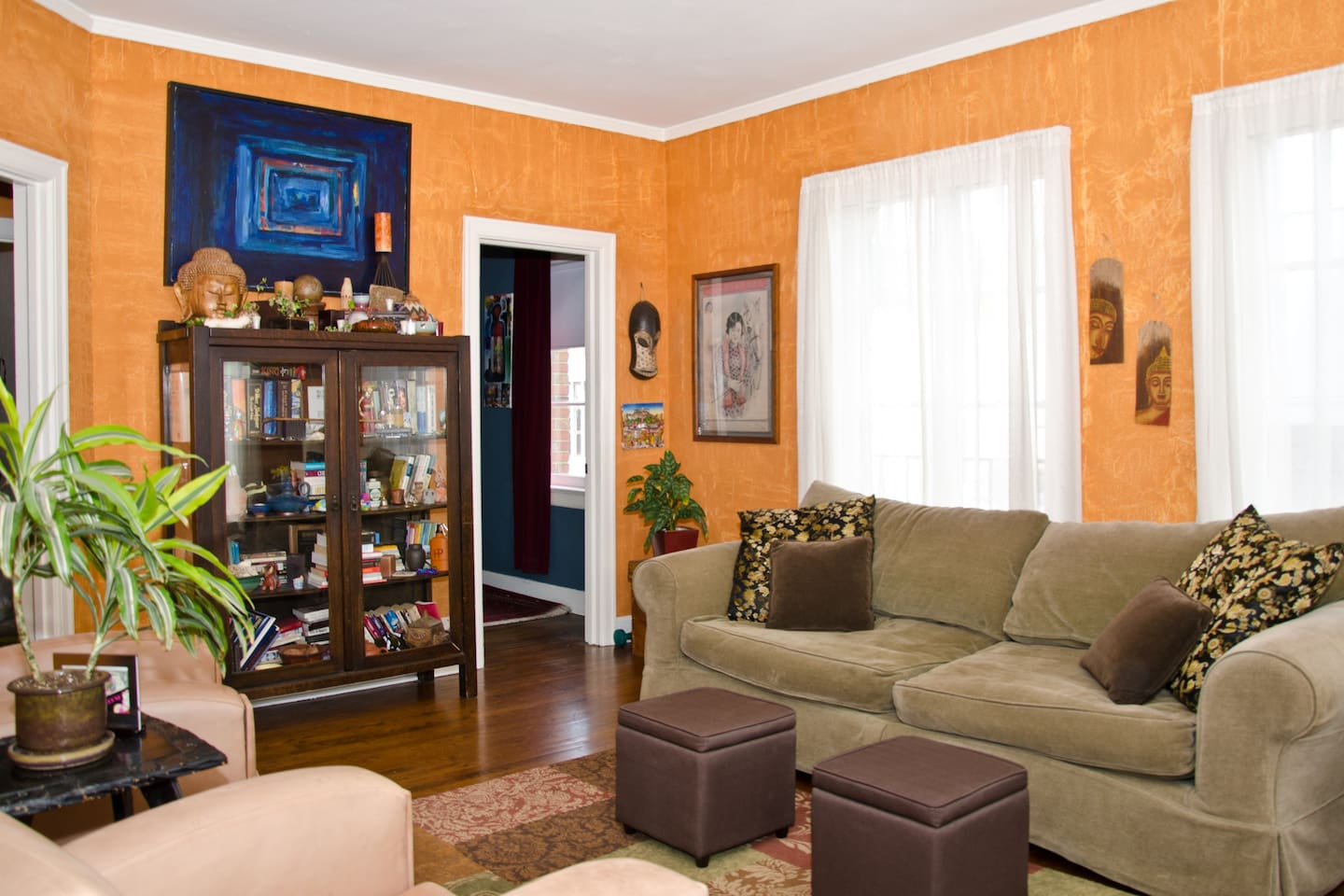 Spacious, comfortable living room with a birds eye view of the Sunset Strip!