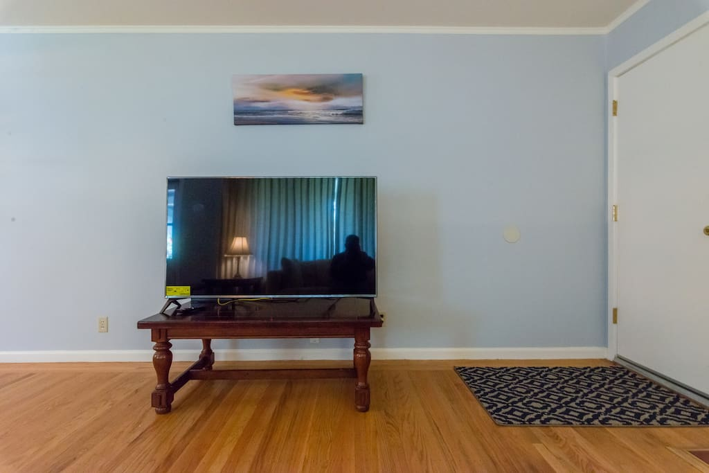 Brand new 52 inch smart TV that comes with Netflix. Use it as a large screen for a presentation or Skype conference call.