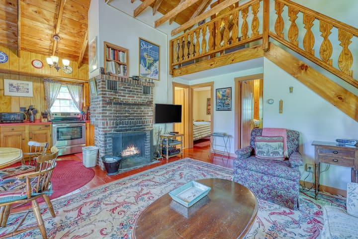 Dog-friendly & charming mountain chalet w/ fireplace