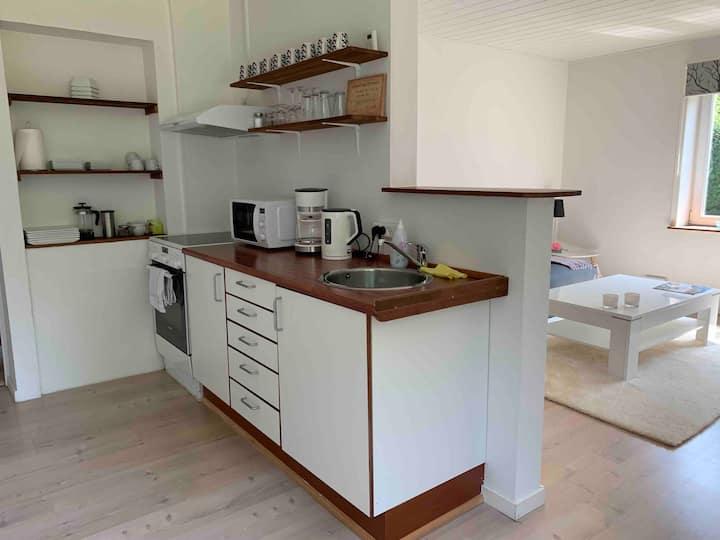 B&B Lejlighed med eget køkken og bad, 2 km fra E45