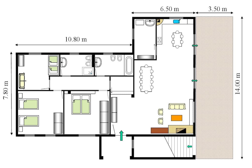 map of the two apartments