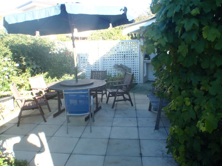 The courtyard - perfect on a hot or sunny afternoon