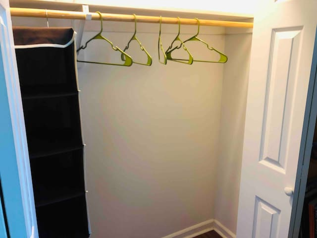 Full size closet to hang or store your clothes during your stay