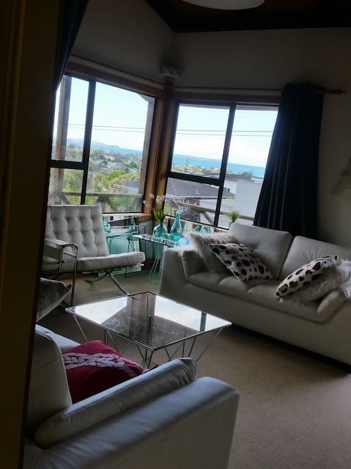 Living room/Lounge with sea view