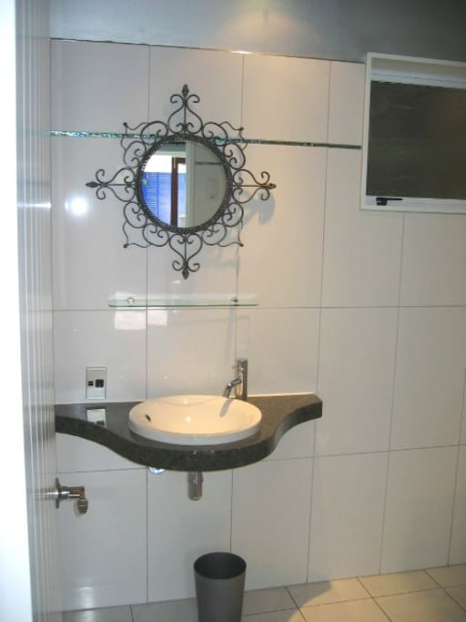 Modern bathroom, heated towel rails and underfloor heating......