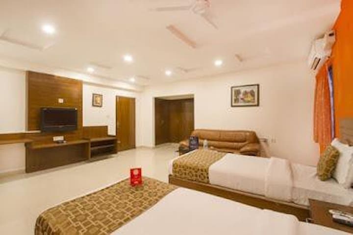 Comfortable DeluxeRooms in Hyderabadi Style