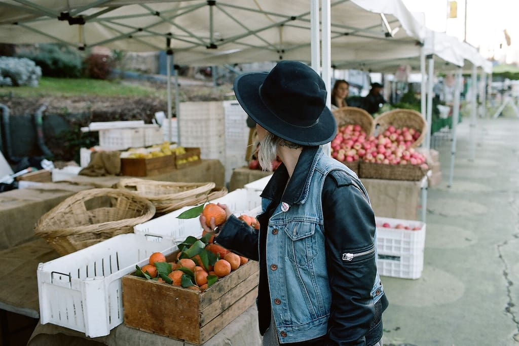 Farmers market at the end of the block every Saturday AM and Tuesday Evening