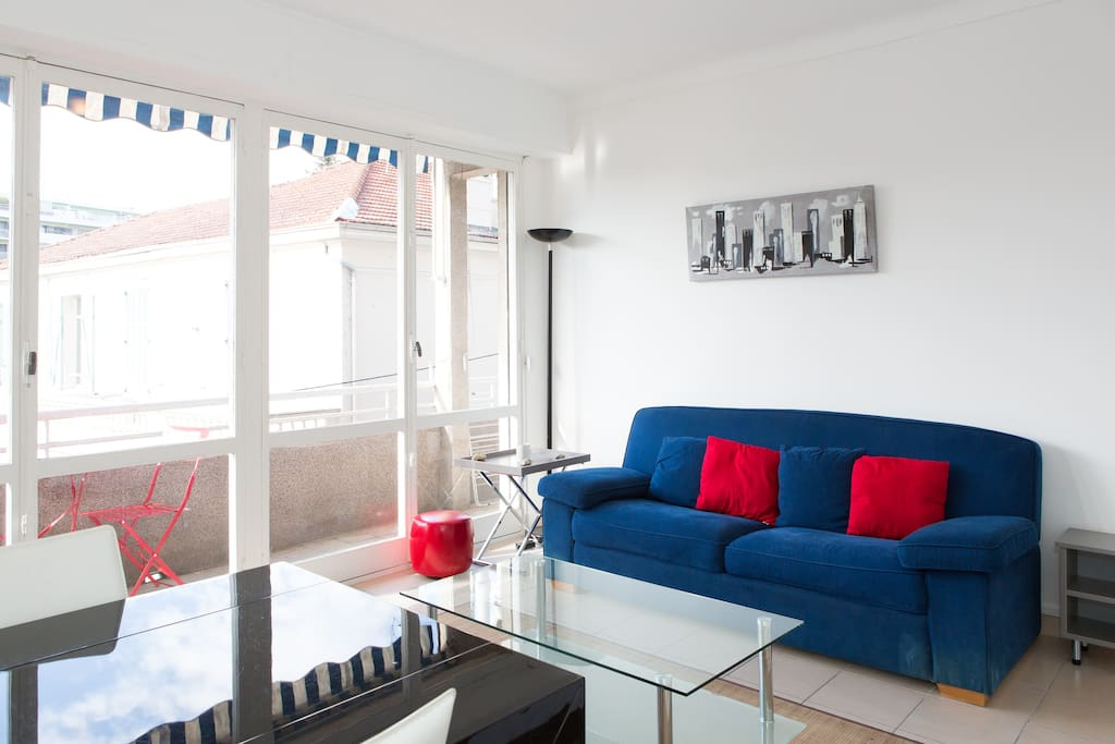 2 bedrooms: 300m from Croisette!