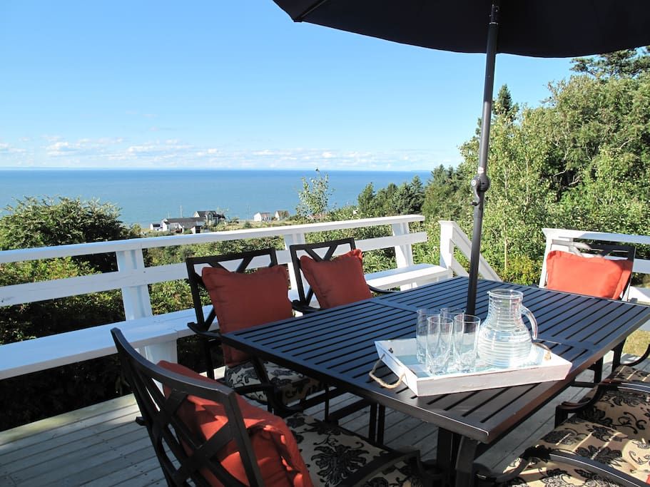 Stunning sea views from the deck