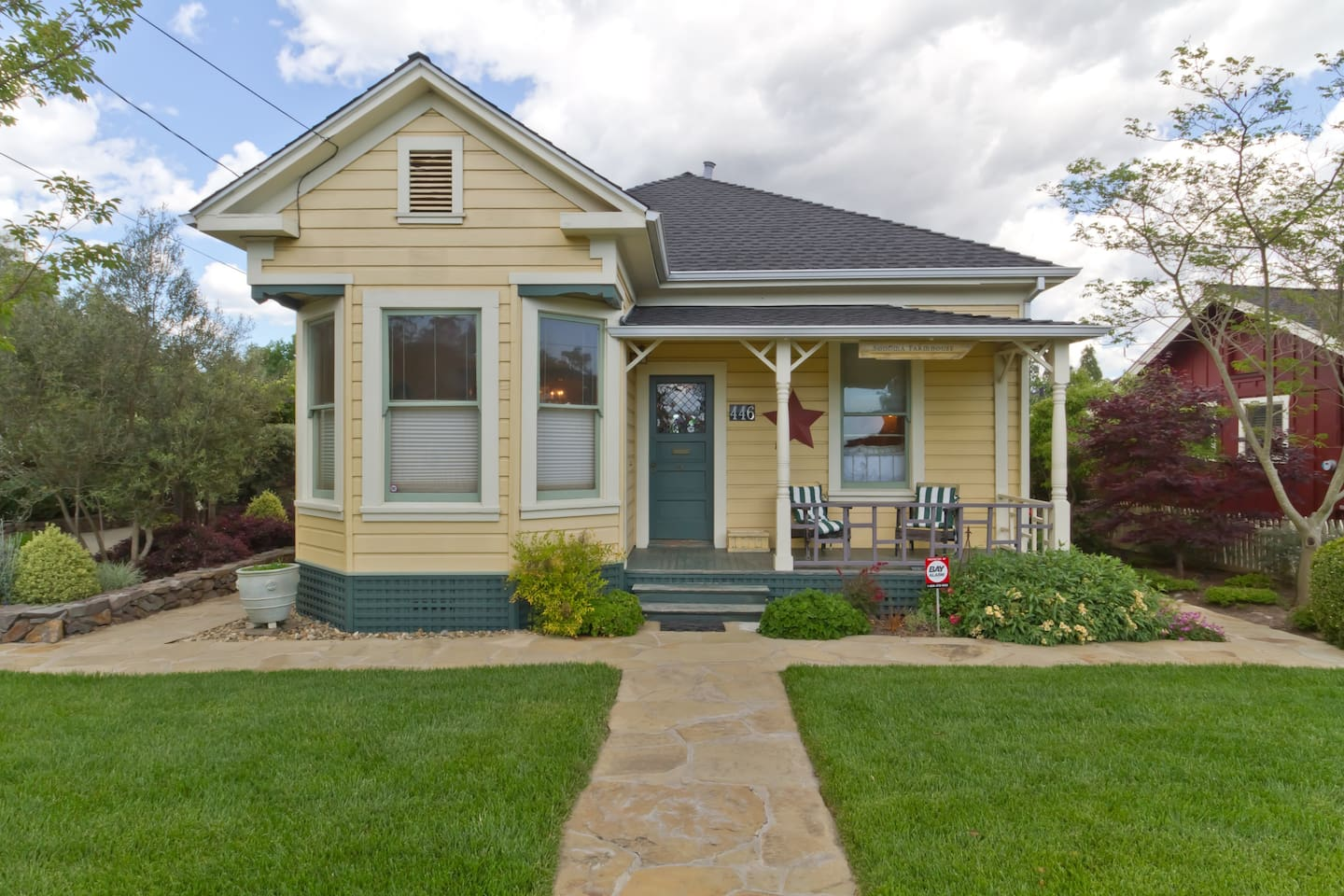 Main House - Front View of Historic Victorian Bungalow