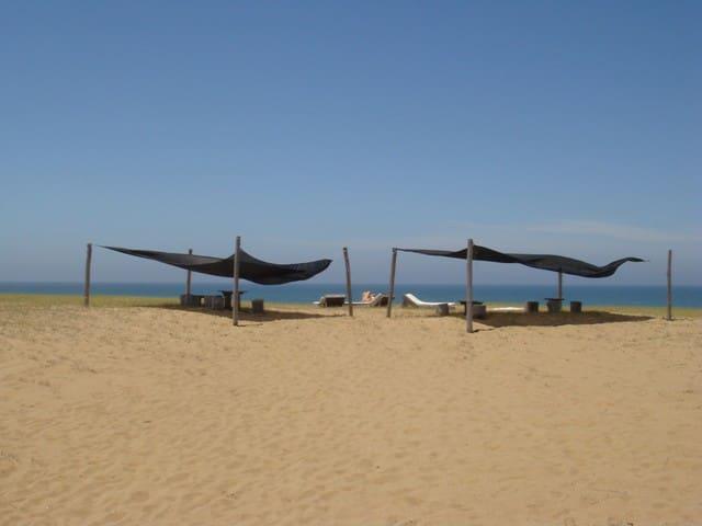 Cabaña madera 3dorm playa oceanía  - Rocha - Huis