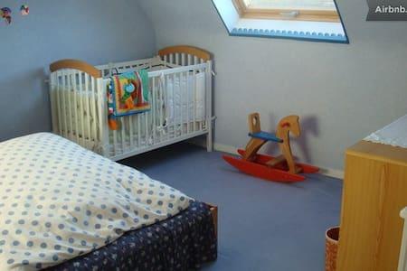 Chambre bleue près port de Brest - le relecq-kerhuon - Bed & Breakfast