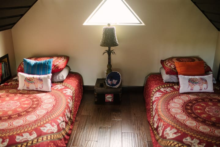 Loft space-2 twin size beds