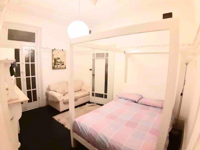 Master bedroom with attached en-suite bathroom