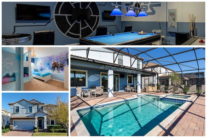 Enjoy Transformer, Frozen and Star Wars Themed Rooms at Luxury Disney Villa in Champions Gate Resort