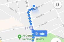 Walking distance to Flushing Meadows Park.