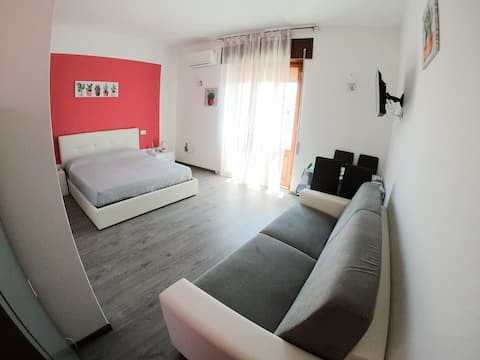 Kaktusový dům - růžový pokoj