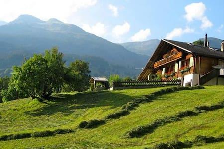 Chalet confortable à Grindelwald avec vue sur la montagne