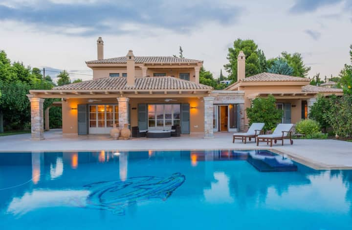 Two Storey Holiday Villa Surrounded by Charming Garden