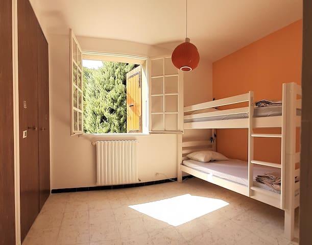 Chambre orange - Rez de chaussée