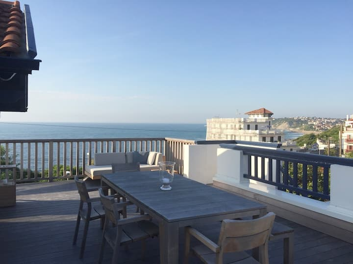 Surf Guéthary · Luxe d'un appartement sur l'océan