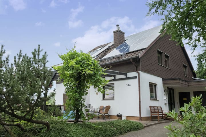 Cosy, bright apartment in a quiet location in Bad Grund with use of garden