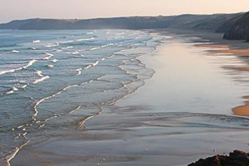 3 mile of golden sand beach with only pub on beach in the country