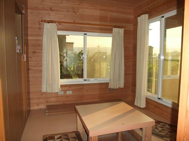 Purple garden villa private room