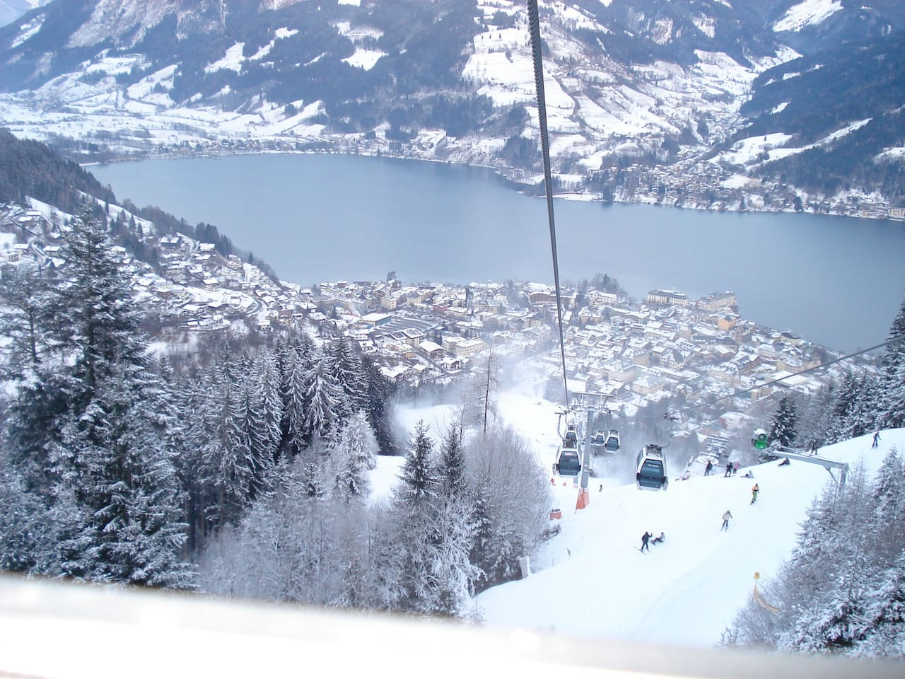 View from the 'CityXpress' (the ski-lift is easy walking distance from the apartment)