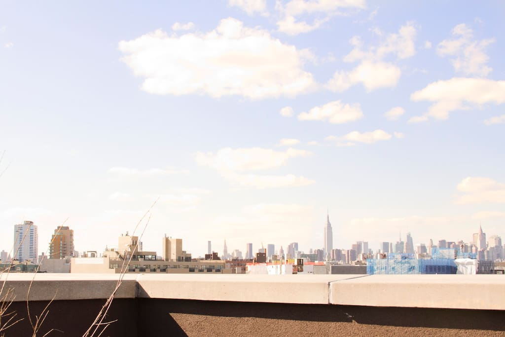Manhattan as seen from the Rooftop.