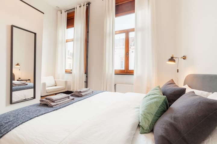 Beautiful bedroom in Brussels town house