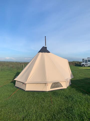 Bell tent camping in North Devon- Small Klondike 3