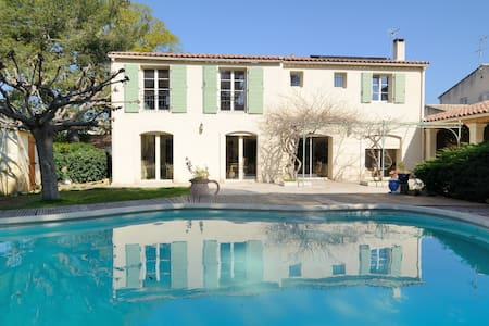 charming room in villa+ pool - Salon de Provence - Casa de camp