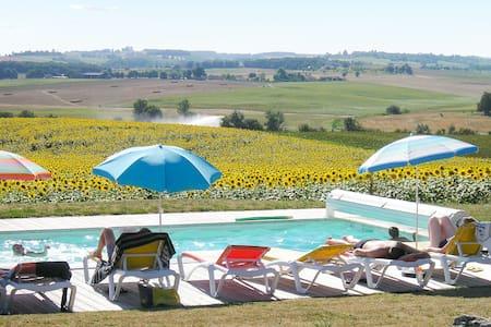 Roulotte avec jardin et piscine - Pauilhac
