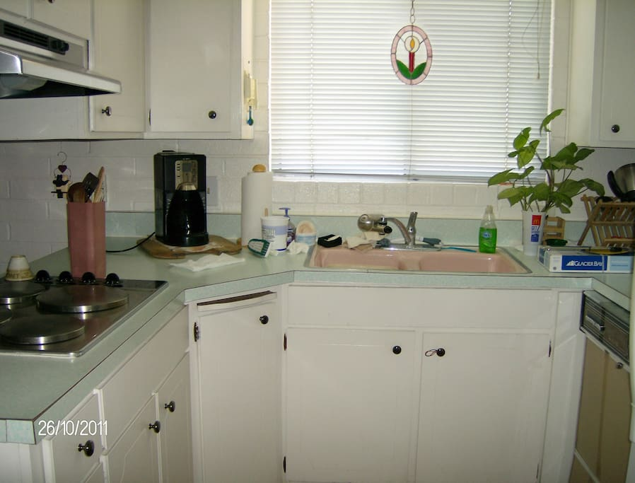 bright, fully equipped kitchen